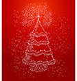 Merry Christmas stars tree shape composition file vector image vector image