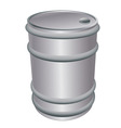 metallic barrel vector image