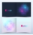 modern template for square brochure leaflet vector image vector image