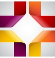 Moebius origami colorful paper triangles on white vector image vector image