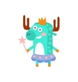 Moose With Party Attributes Girly Stylized Funky vector image