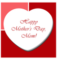 Mothers Day card with heart and text vector image