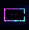 neon frame background double color colorful neon vector image