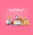 online shopping concept desktop vector image vector image