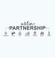 partnership banner web icon vector image