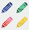 pencil icon Abstract Triangle vector image vector image