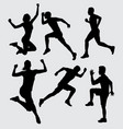physical training silhouette vector image vector image
