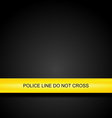 police line tape background vector image