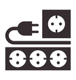 Power outlet plug and socket sign vector image