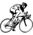 race bicyclist sketch vector image vector image