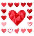 red heart sharp pink color card beautiful vector image vector image