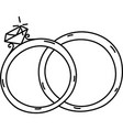 rings icon doddle hand drawn or black outline vector image