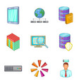 sale of information icons set cartoon style vector image vector image