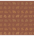 Seamless background with Aztec calendar Day glyphs vector image vector image