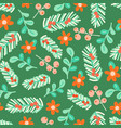seamless pattern christmas floral elements vector image vector image
