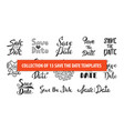 set 13 hand drawn typography design element vector image