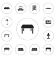 Set of 12 editable interior icons includes