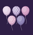 set of balloons helium icons vector image vector image