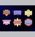 sport emblem typography set super hero baby vector image
