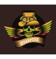 Steampunk skull vector image vector image
