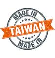 Taiwan orange grunge ribbon stamp on white vector image vector image