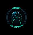 the bat flies at night vector image vector image