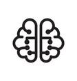 thin line brain icon vector image vector image