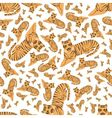 tigers seamless pattern vector image vector image
