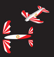 toy plane airplane eps 10 vector image vector image