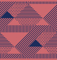 triangle and dots geometric seamless pattern vector image vector image
