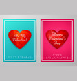 valentines day cards with text braille vector image