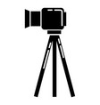 video camera on stand icon simple style vector image vector image