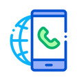voip smartphone internet connection icon vector image