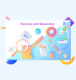 website or mobile app landing page of science and vector image