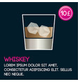 whiskey cocktail card template with price and flat vector image vector image