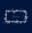 winter square frame vector image vector image