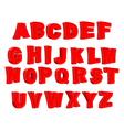 Toy letter Red alphabet Cartoon children ABC vector image