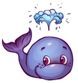 whale in cartoon style vector image