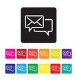 email support icon set vector image