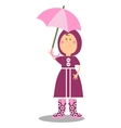 Girl walking with umbrella 19 vector image