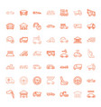 49 automobile icons vector image vector image