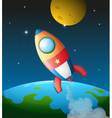 A spacecraft near the moon vector | Price: 1 Credit (USD $1)