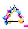 abstract bright colorful plasma drops shapes with vector image vector image