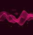 abstract wavy background for banner flyer book vector image