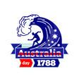 australia day 1788 logo badge vector image vector image