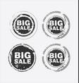big sale stamp 3 vector image vector image