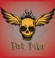 biker emblem logo or tattoo vector image vector image