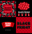 black friday banner set realistic style vector image
