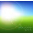 blurry beach and blue sky with summer sun burst vector image