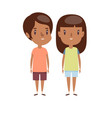 boy and girl - characters vector image vector image